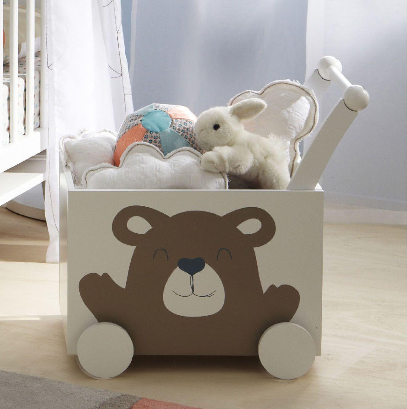 Coffre à #jouets (ou à doudous...) avec roulettes - collection ...