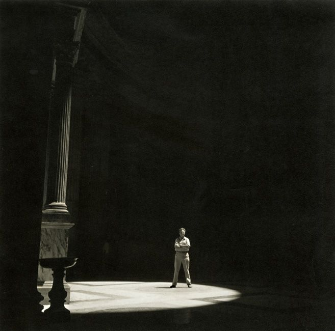 George Daniell - Self Portrait in Pantheon, Rome, Italy, 1955