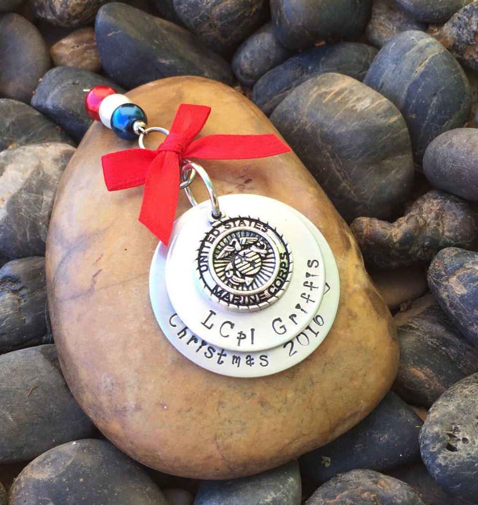 Marine Corps Christmas Ornament  Military Christmas Ornament  Marine  Corps Boot Camp Graduation Gift  Marine Corps Retirement Gift  Usmc