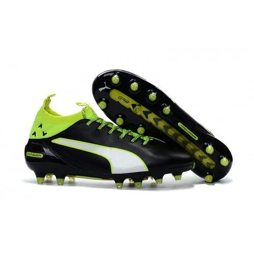 2034 Puma evoTOUCH PRO FG Mens Soccer Cleats Black Green White