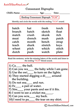 tch consonant trigraphs | English Phonics | Pinterest | Consonant ...