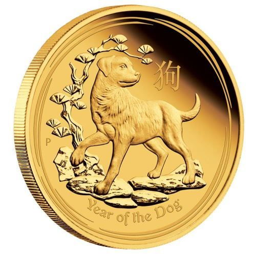 Perth Mint Lunar Series 2018 Year Of The Dog Gold Coins Dog Years Coins