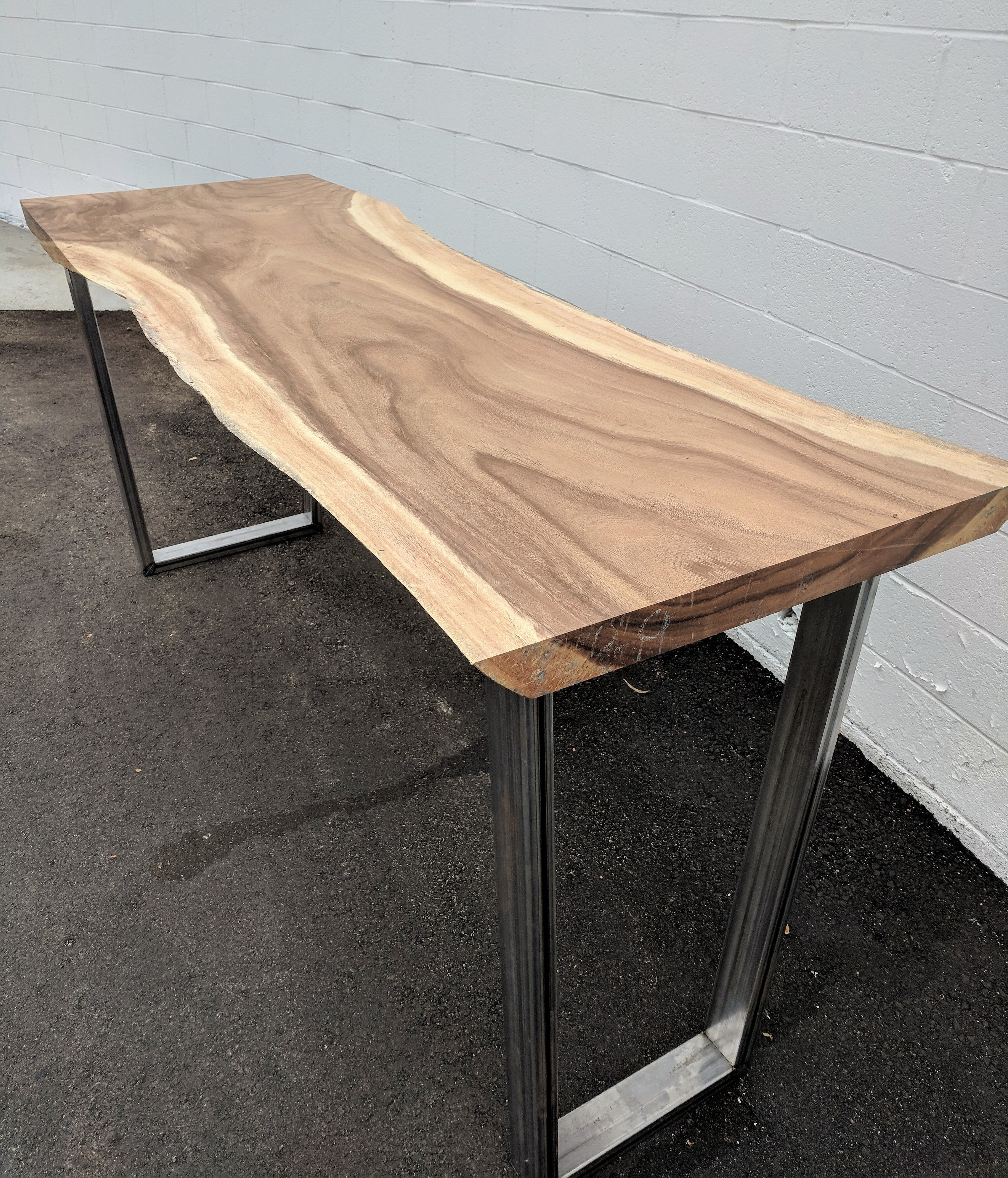 Live edge bar top modern industrial custom made to order