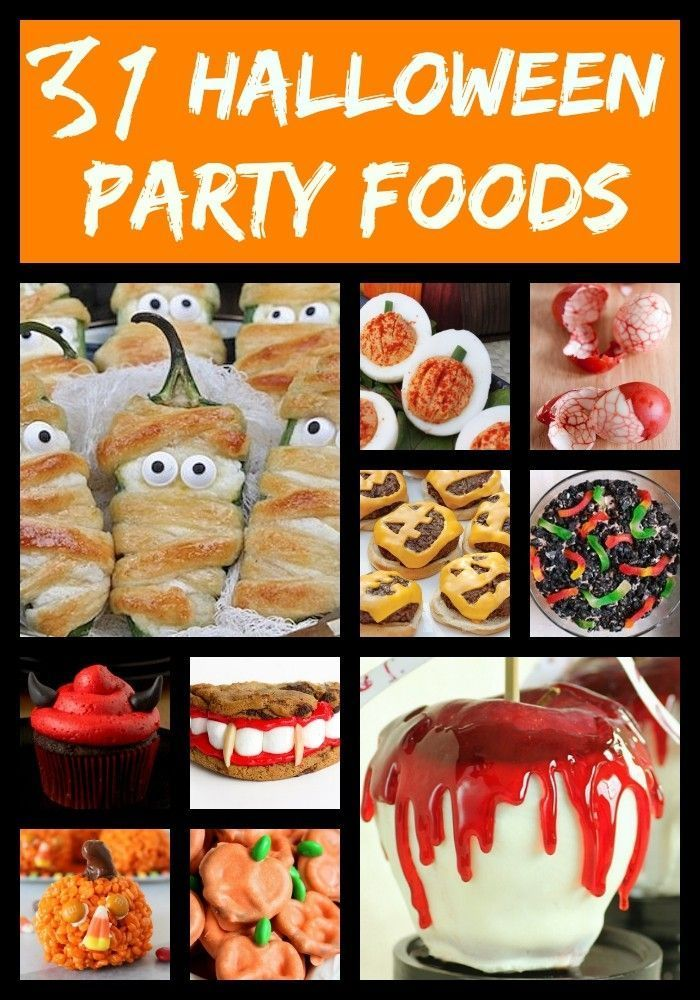 31 Halloween recipes for kids and to make for parties Great - halloween food ideas for party