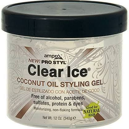 Ampro Pro Styl Clear Ice Coconut Oil Styling Gel 12 Oz Styling Gel Clear Ice Gel