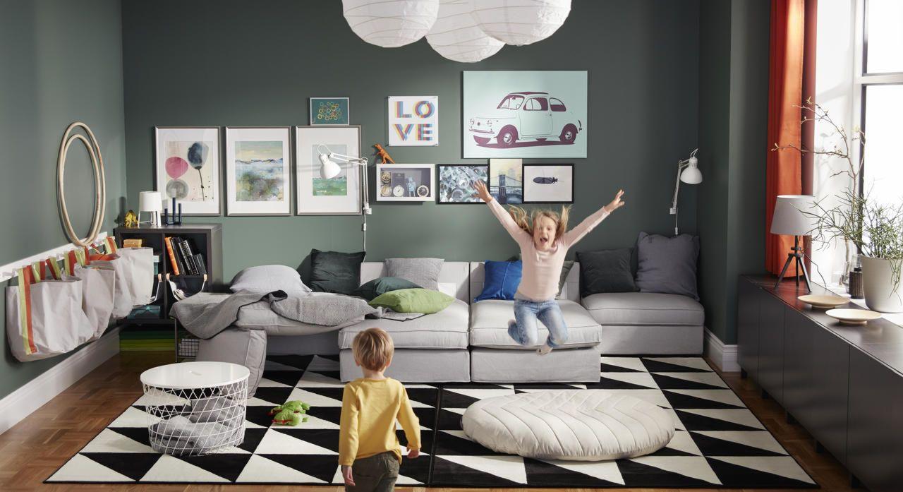 Vous voyez un salon. Ils voient tout ce qu'ils peuvent imaginer. With images   Ikea living ...