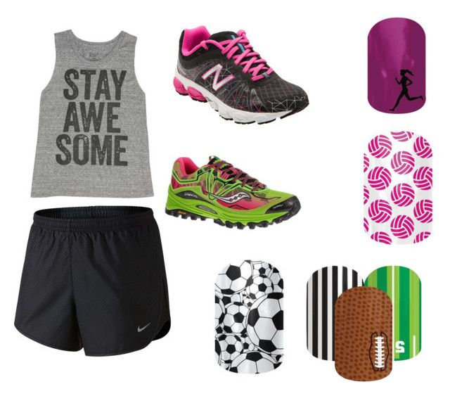"""Athletic wear, with nail wraps"" by ariel-jolley-croteau on Polyvore"