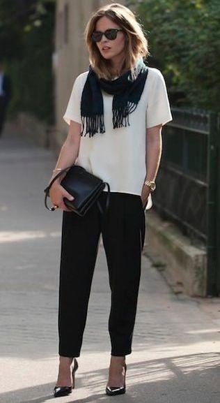 check out cec92 20fde comodidad 100%! Pantalon bombacha negro + remera blanca + el toque en los  zapatos!