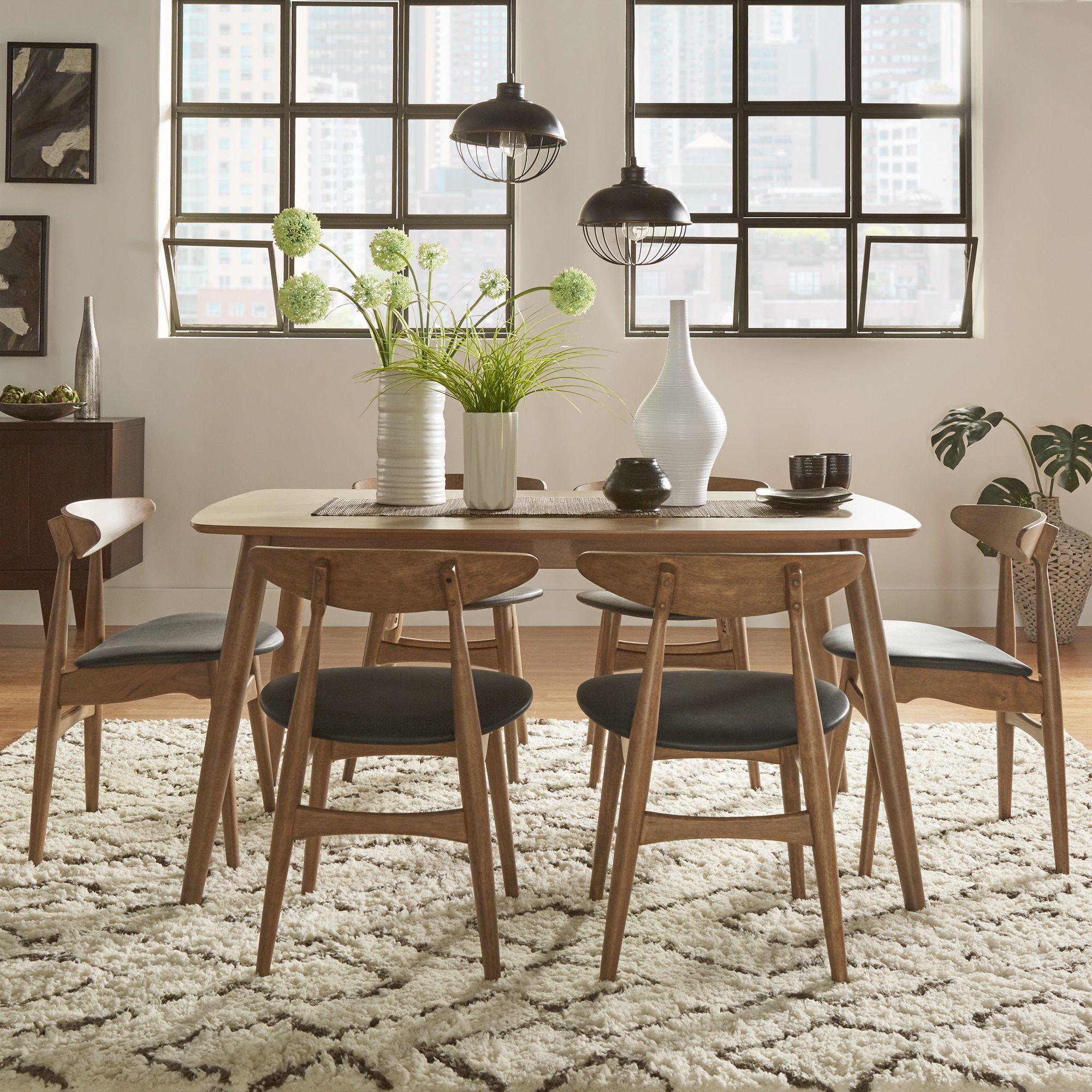 MID Century Living Norwegian Danish Modern Chestnut Tapered
