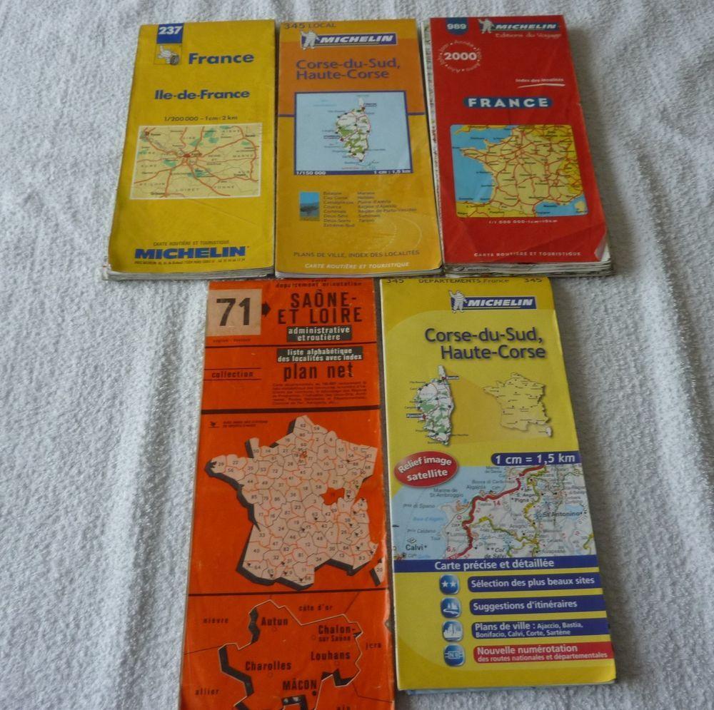 Lot De 5 Cartes Routiere Cartographie Cartographie Cartes Et