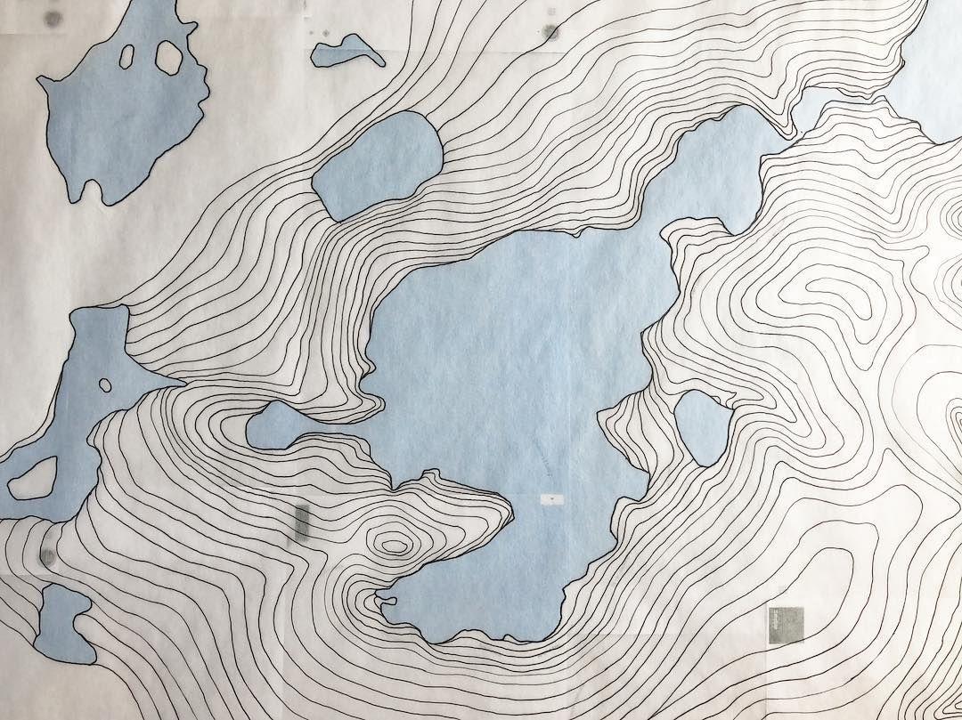 Topographic Map by Erik Linton (@linton_art) • Instagram ...
