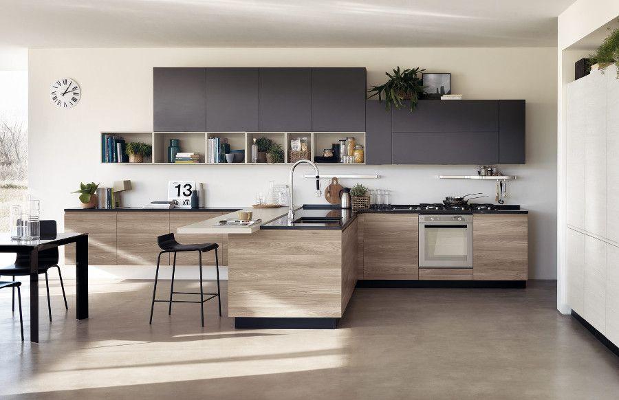Cuisine En Bois Moderne Et Sobre Blog D Inspiration Deco Design Interior Design Kitchen Kitchen Interior Scavolini Kitchens