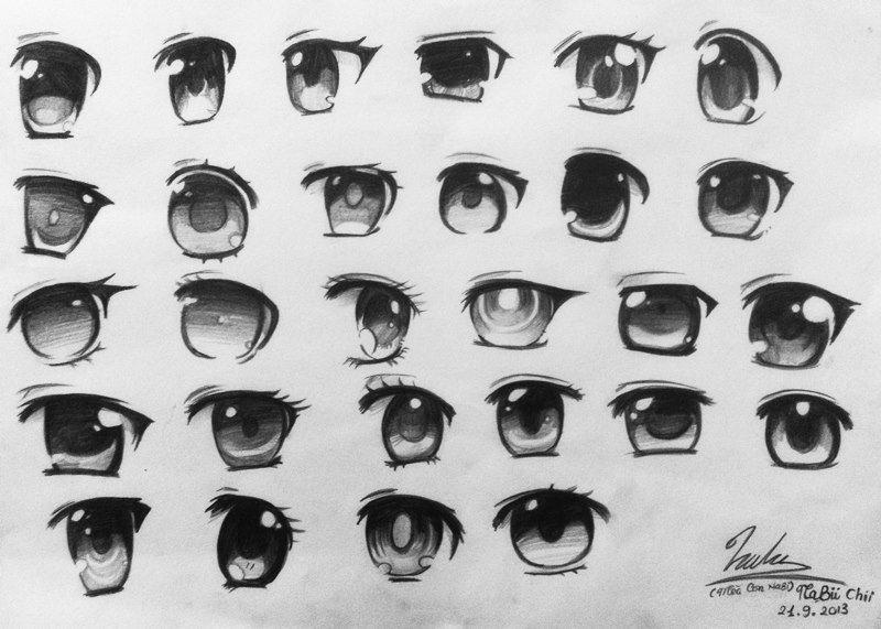 Anime Girl's Eyes by Napi-Piponpon.deviantart.com on ...