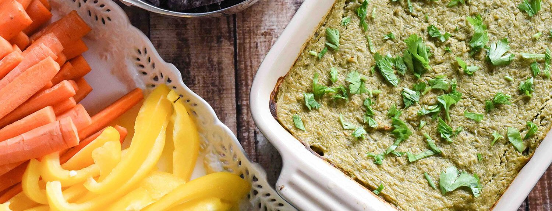 Healthy Spinach Artichoke Dip - Plant-Based Vegan Recipe  #healthyrecipes #cannellini #garbanzo #spinachdip #artichokedip #appetizers #healthypartyfood Garden Fresh Foodie #whitebeans http://www.forksoverknives.com/recipes/healthy-spinach-artichoke-dip/ http://www.gardenfreshfoodie.com/appetizers/healthy-spinach-artichoke-dip/
