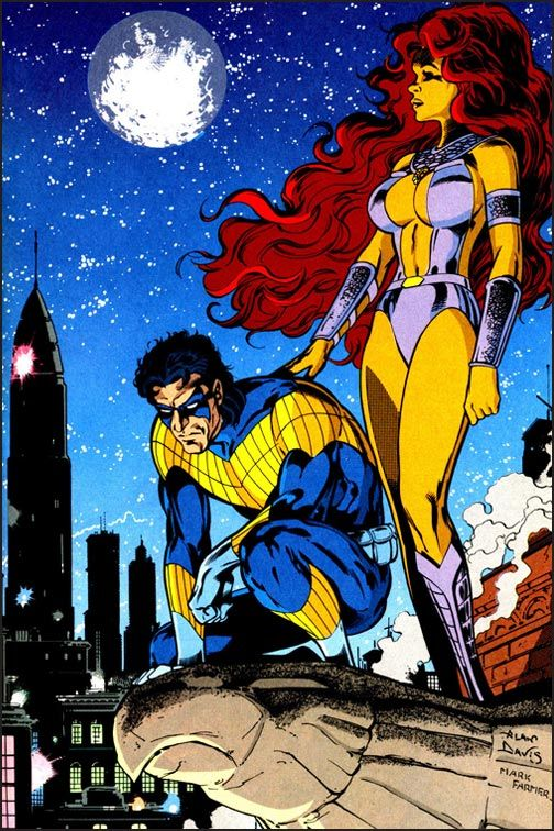 Starfire and Nightwing of the Titans