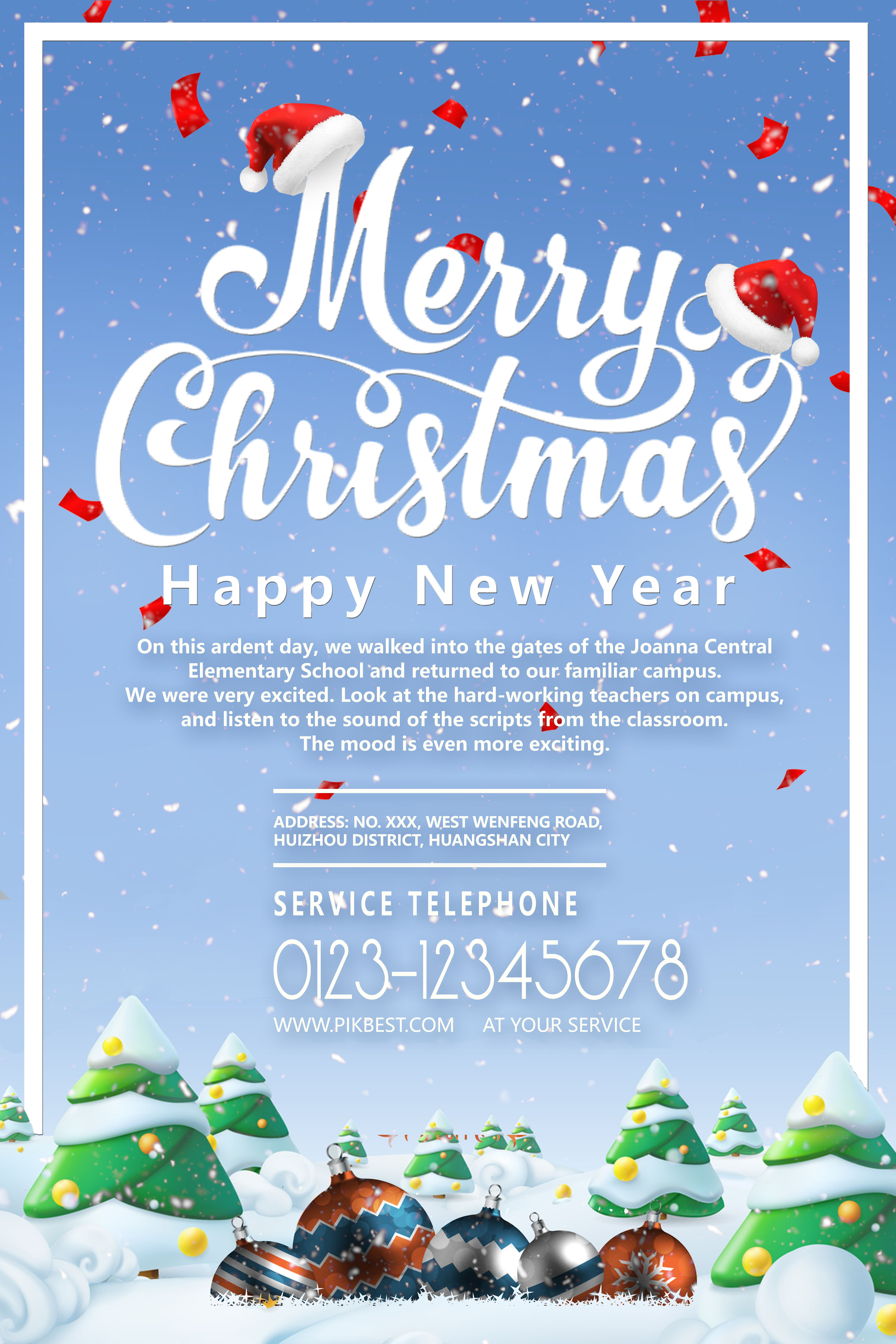 Merry Christmas Happy New Year Poster Design Template Template Psd Psd Free Download Pikbest New Years Poster Poster Design Merry Christmas And Happy New Year