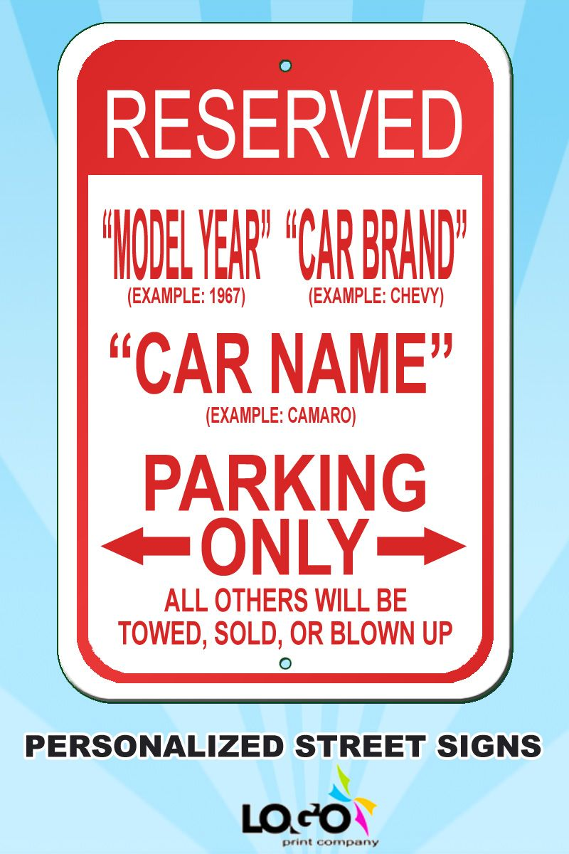 Ford Truck Signs Custom Car Parking Sign Car Parking Signs Ford -  signs of cars with names