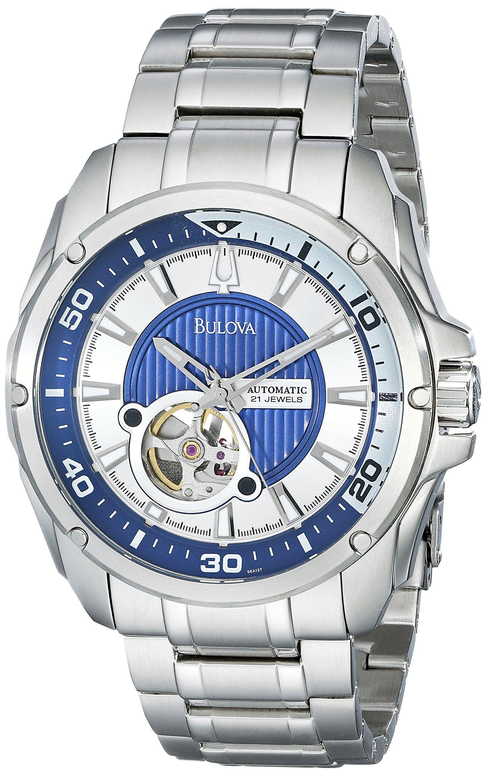 Bulova Men\'s 96A137 Self-Winding Mechanical Bracelet Watch | RELOJ ...