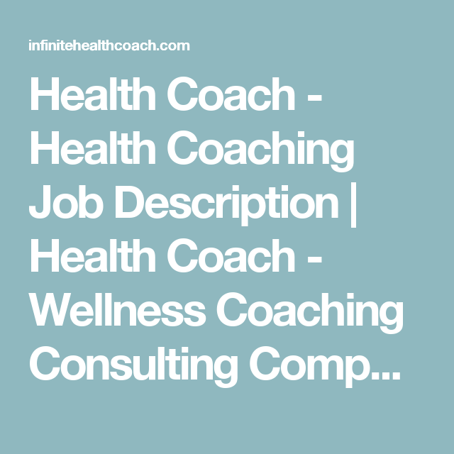 Health coach job description
