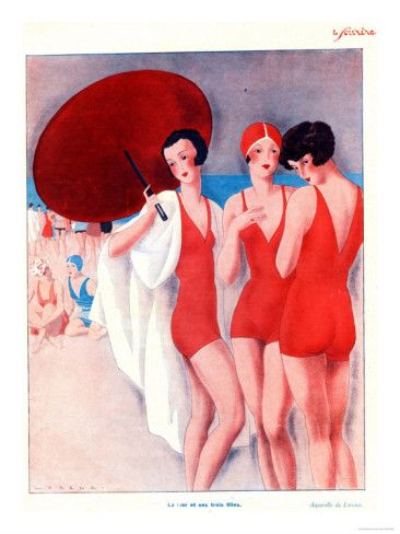 Le Sourire, Holiday Swimwear Magazine, France, 1920 Posters at AllPosters.com