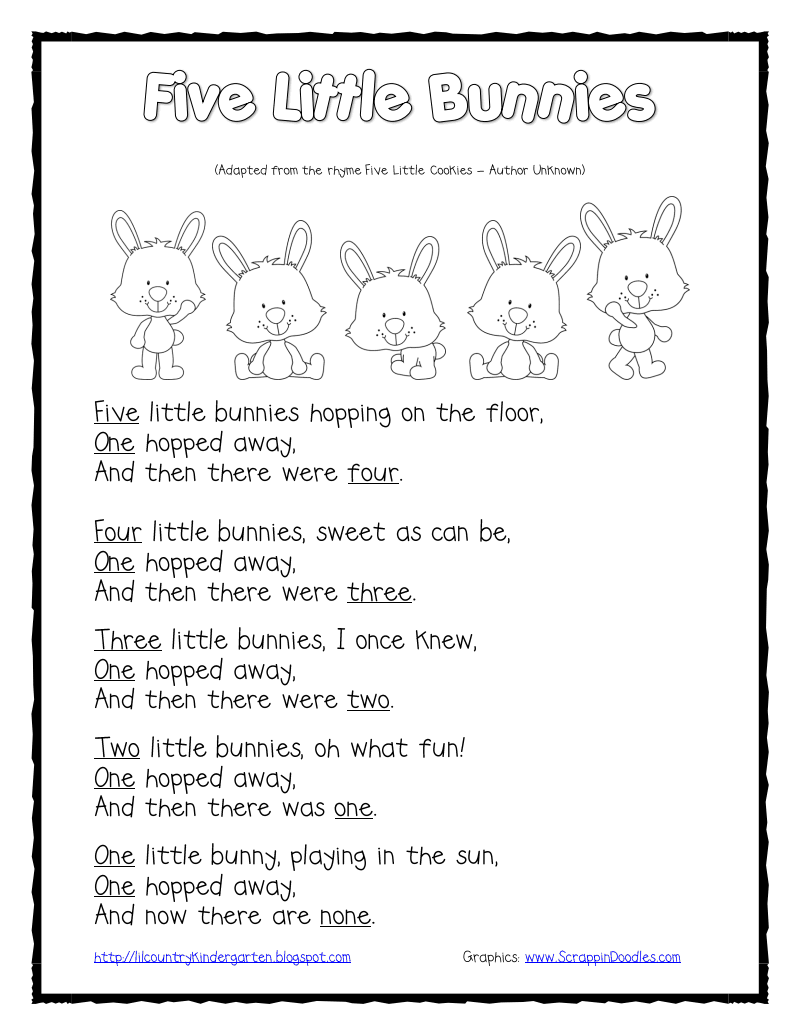 Easter Songs For Kids: Five Little Bunnies Shared Reading And Finger Puppets.pdf
