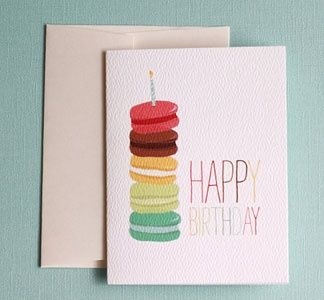 macaron birthday | http://cutegreetingcards.blogspot.com