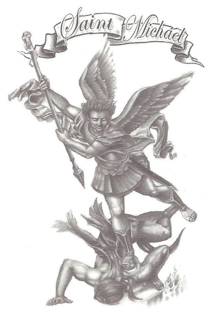 Religious Saint Michael Temporary Tattoo NEW! | eBay | tatoo ides ...
