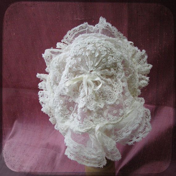 95a782efb Stunning French Ruffled Christening Bonnet by UnPetitChateau ...