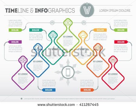 Infographic With Design Elements Vector Presentation Of Business