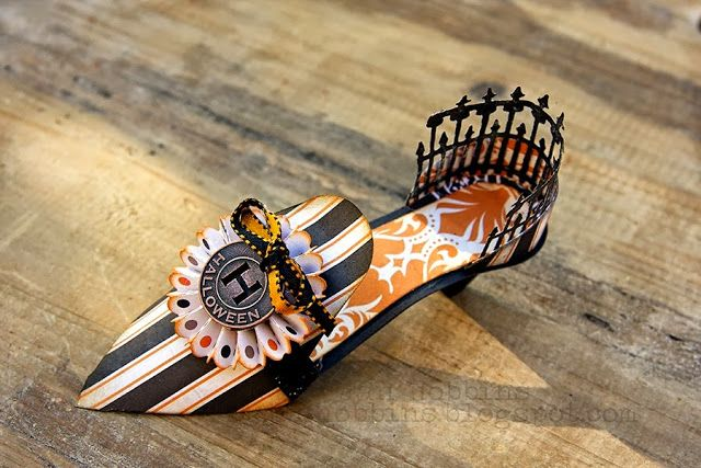 Shoe Die by Brenda Walton - In My Own Imagination Halloween - halloween club decorations