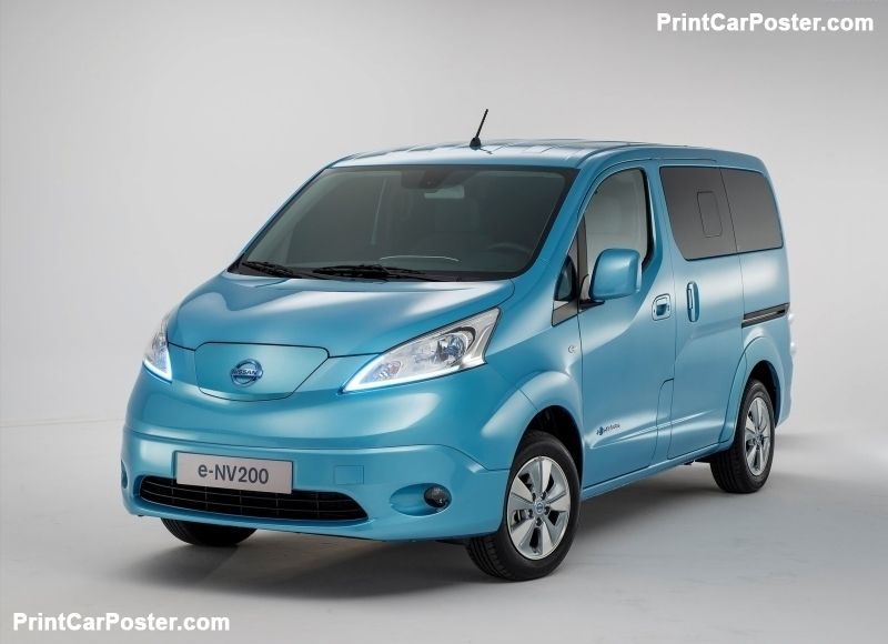Nissan E Nv200 2015 Poster In 2020 Nissan Car Cars Uk