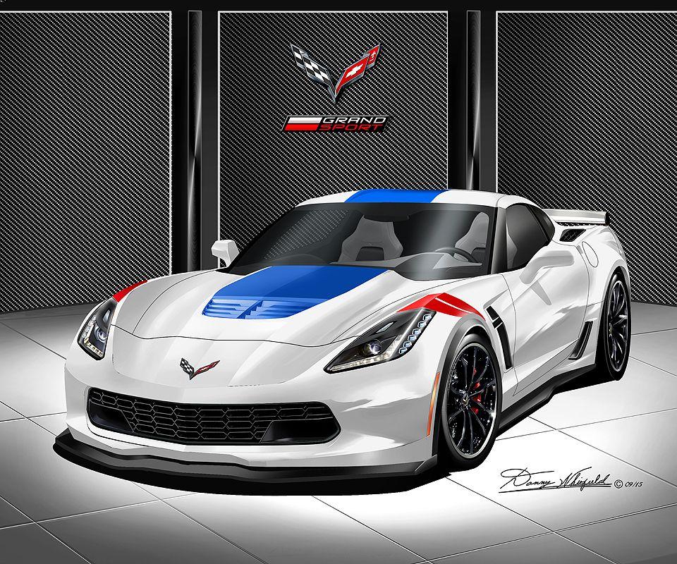 2017 Corvette Grand Sport Art Prints Corvette Grand Sport Corvette Art Corvette