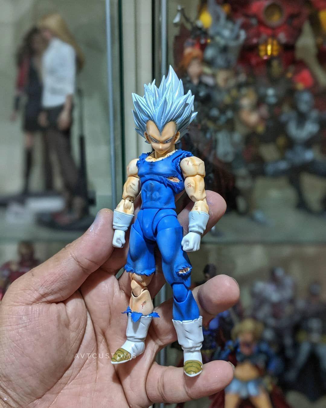 Shf Custom Mastered Ultra Instinct Vegeta Super Saiyan Blue Custom Action Figures Super Saiyan God