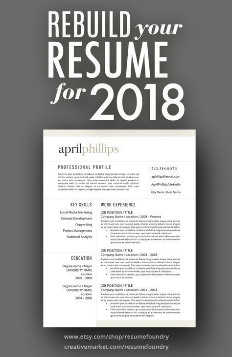 Pin By Resume Foundry On Professional Resume Template