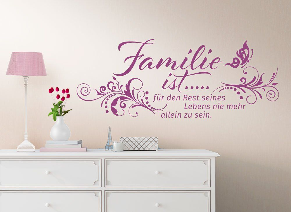 wandtattoo spruch familie ist fuer den rest seines lebens. Black Bedroom Furniture Sets. Home Design Ideas