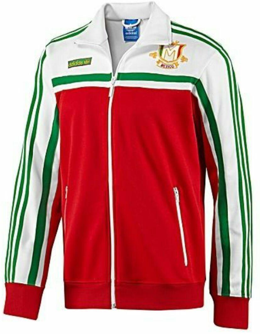 21c2e1cb1b97 MEDIUM adidas Originals Men s MEXICO Firebird Track Top Jacket White Green  Red   eBay