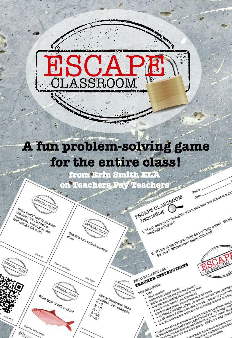 Class Escape Problem Solving Game Escape The Classroom Solving Games School Classroom