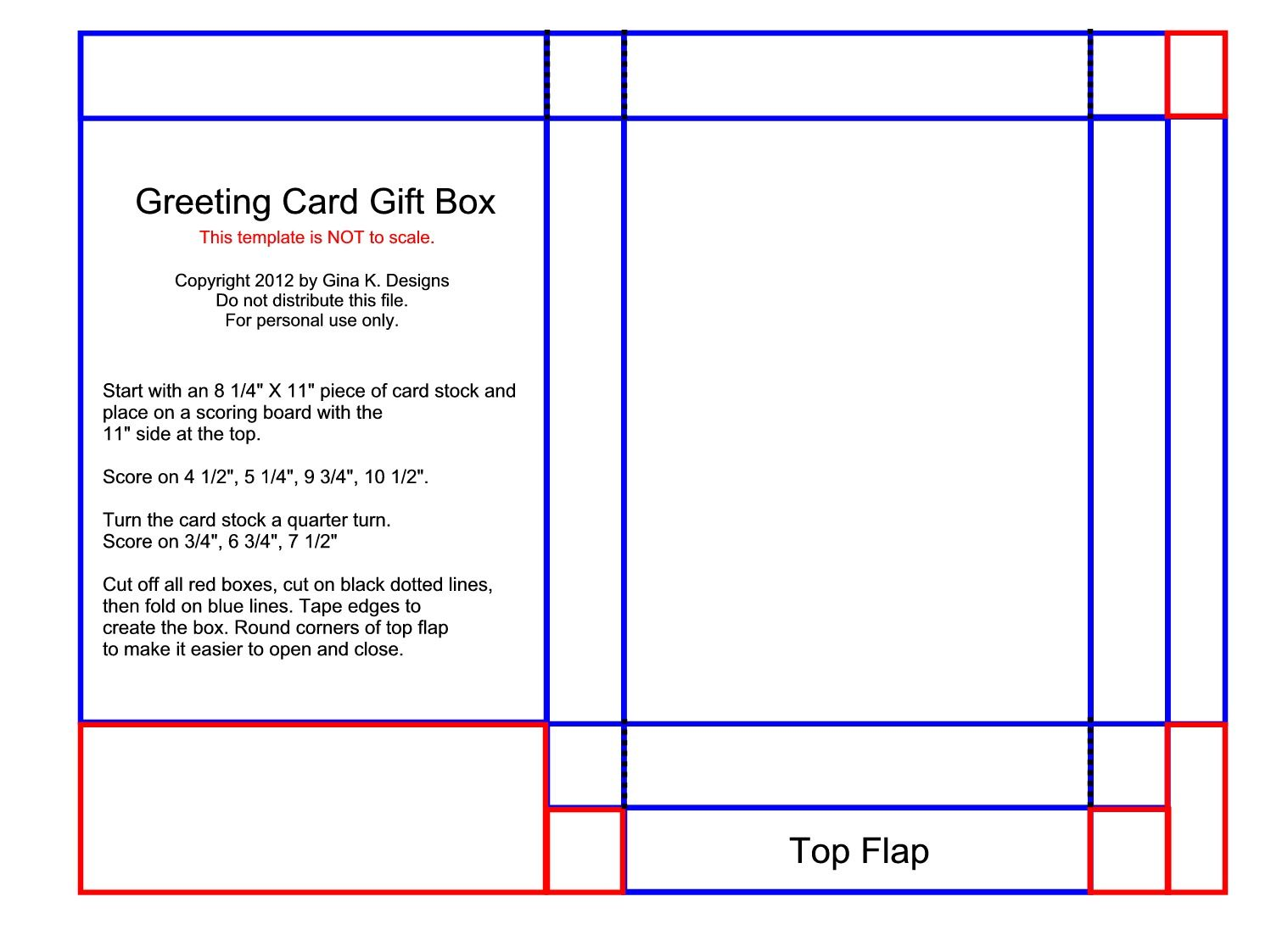 Greeting Card Box Template Greeting Card Gift Box Template With