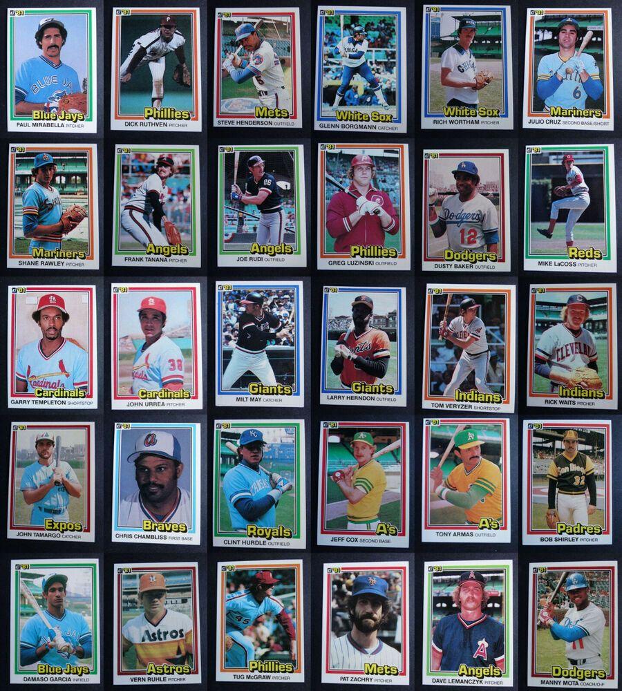 1987 donruss baseball cards checklist