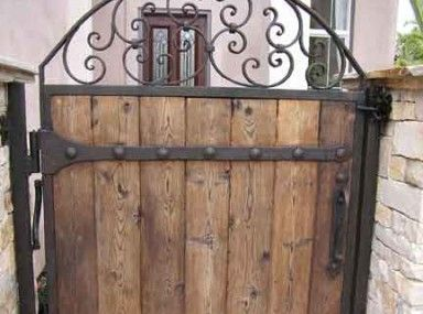 Beautiful Metal Gates With Wood Infill And Metal And Wood