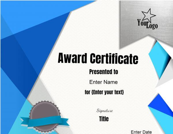 online certificate maker with logo