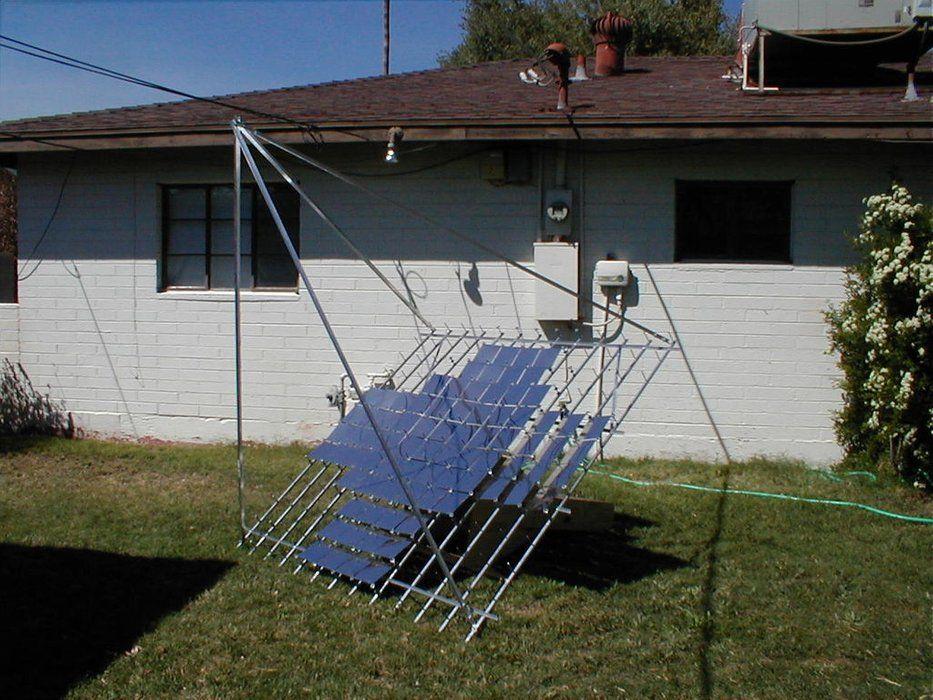 Multifacet parabolic solar concentrator solar solar