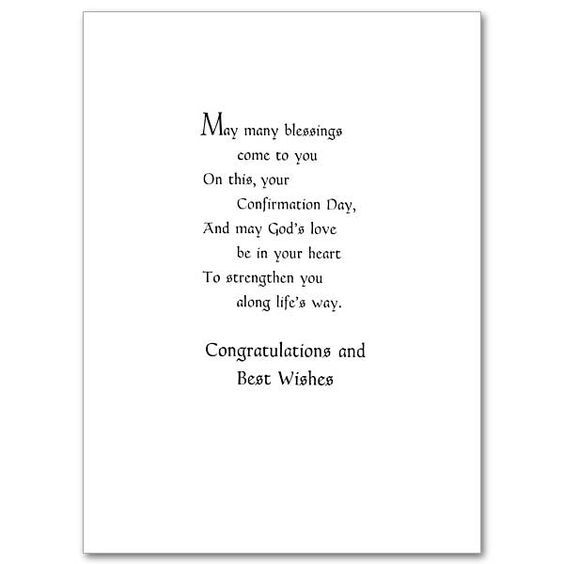 On Your Confirmation - Confirmation Card | card wording ...