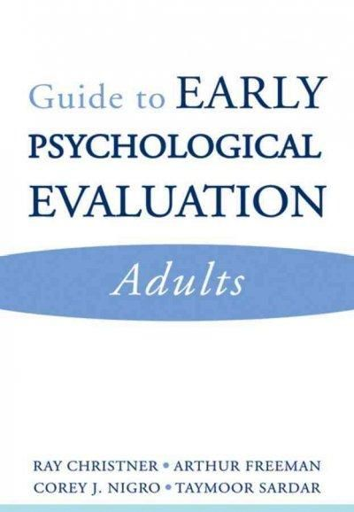 Guide To Early Psychological Evaluation Adults Paperback  Book