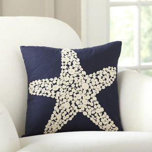 Sea Star Embellished Pillow Cover Embellished Pillows Pillows White Decorative Pillows