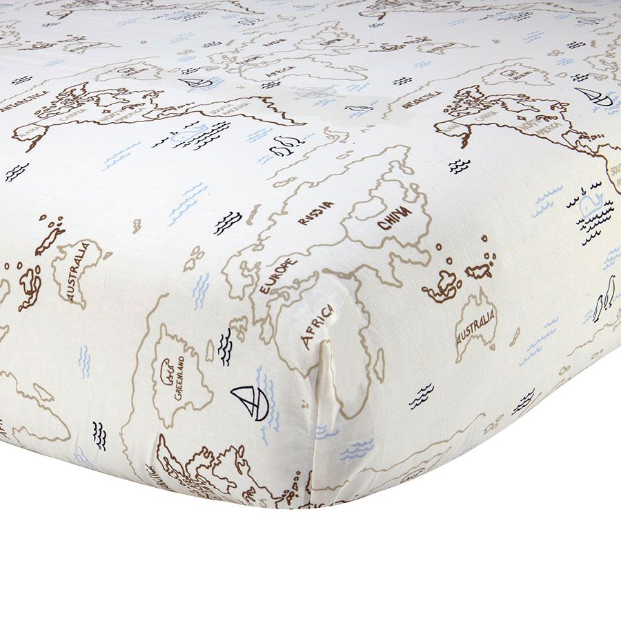 Crib dome babies r us - Sadie And Scout World Map Crib Sheet Tan World Map Babies R Us Australia