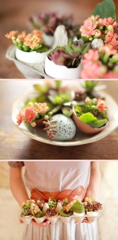 10 Easy DIY Easter Centerpieces  Easter is a little over 6 weeks away which means it's a good time to think about how to decorate your home to celebrate the occasion. We've found 10 easy DIY Easter Centerpieces that will give your home a cheerful touch.#easter #decorations #diy #rabbit