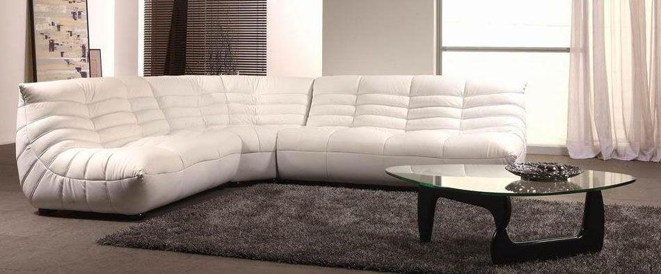 Designer Leather Sectional Sofa