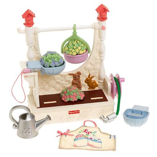 Fisher-Price Loving Family Dollhouse Backyard Set, Garden