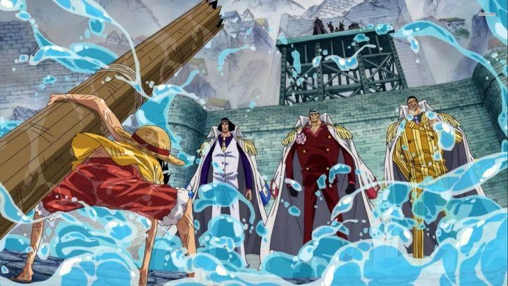 One Piece Marine Ford War Luffy Kuzan Akainu Kizaru